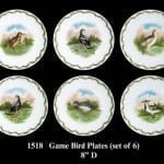 Set of Six Hunting Bird Plates