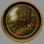 Round Fox Hunt Oil Painting