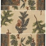 Oak and Pine Area Rug - Medium Size