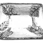 Extra Large Polished Aluminum Forest Tray