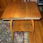 Antique Victorian Oak Side Table