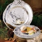 Hemlock Polished Aluminum Round Platter - Medium