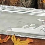 Oak Leaf Polished Aluminum Platter