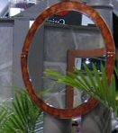 Reclaimed Wine Barrell Strap Mirror