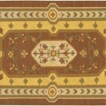 Brown, Yellow and Beige Kilim - Extra Large