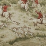 Regal Fox Hunt Fabric - Made in the USA