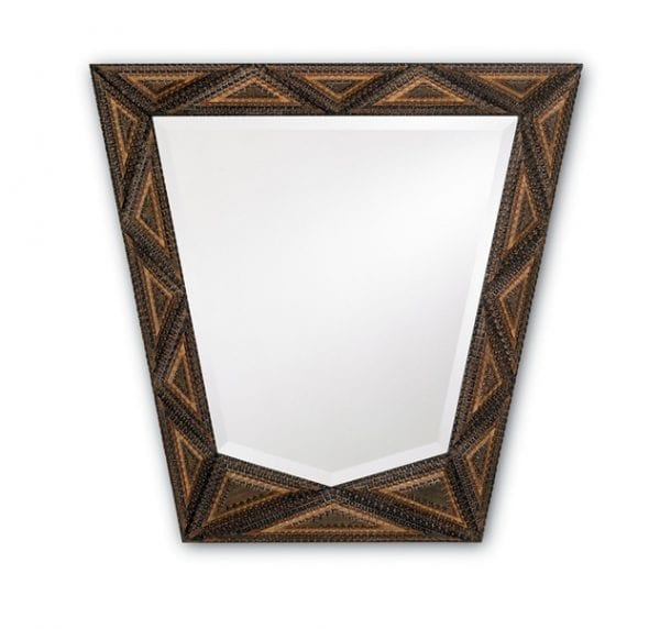 Trapezoid Tramp Art Mirror