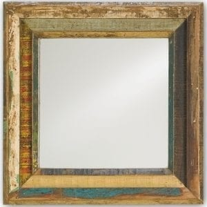 Square Reclaimed Shutter Mirror