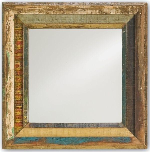 Square Reclaimed Shutter Mirror