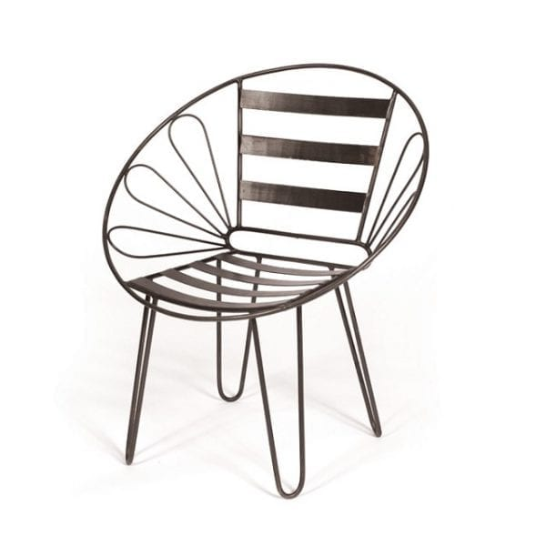 Metal Industrial Round Butterfly Chair