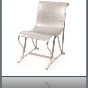 Industrial Nickel Sling Chair