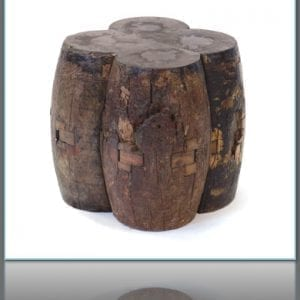 Reclaimed Wood Axle Stool