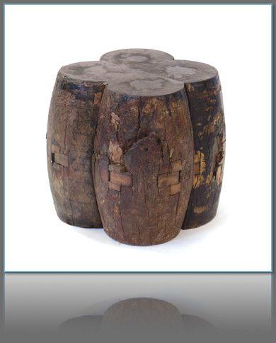 Reclaimed Wood Axle Stool