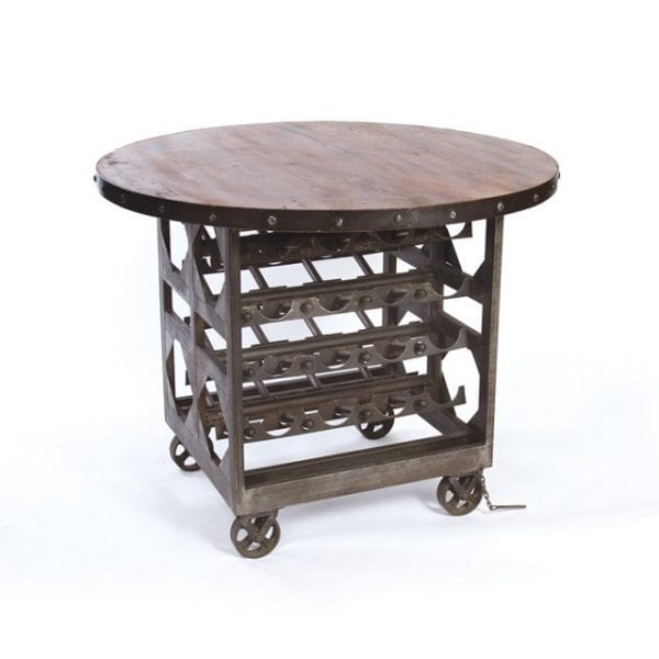 Wine Cellar Rolling Cart and Table