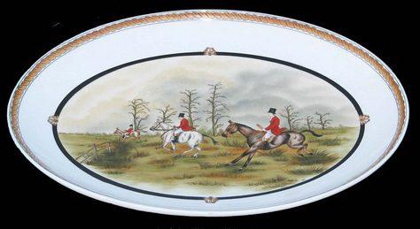 Fox Hunt Porcelain Platter