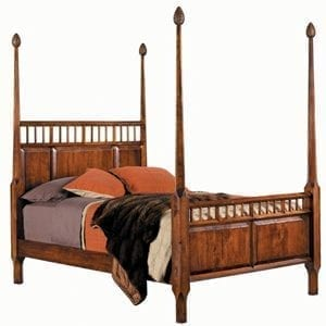 Cherry Four Poster Bed with Pine Cone Finials