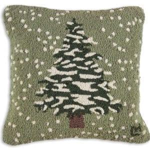 Snow Flurries on Fir Tree Pillow