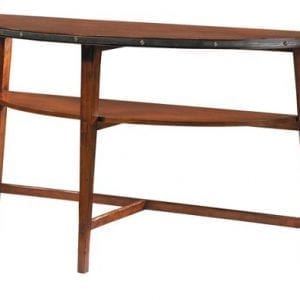 Hand Made, Cherry Demi Lune Console Table