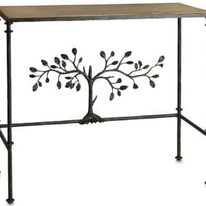 Iron Branch and Concrete Console