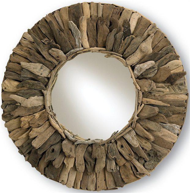 Round Driftwood Mirror The New Rustic, Driftwood Mirror Round