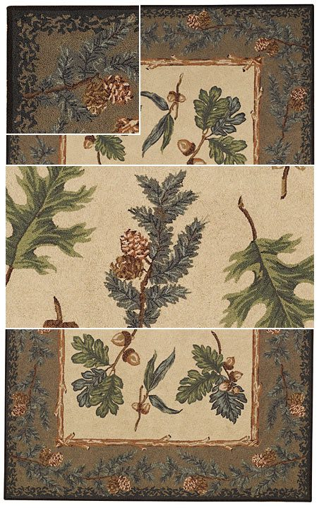 Oak and Pine Area Rug - Small