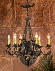 Hand Forged Lafayette Square Chandelier - Small