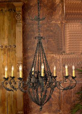 Hand Forged Lafayette Square Chandelier - Large