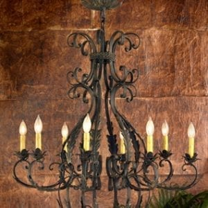 Hand Forged Lafayette Square Chandelier - Medium