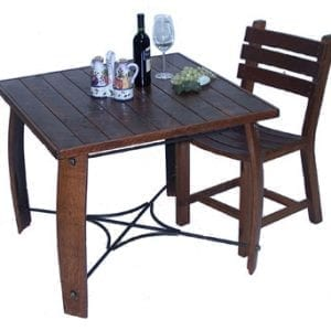 Wooden Whisky Barrel Stave Dining Table