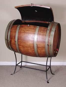 Authentic Wooden Wine Barrel Cooler