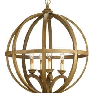 Bentwood Circular Cage Chandelier