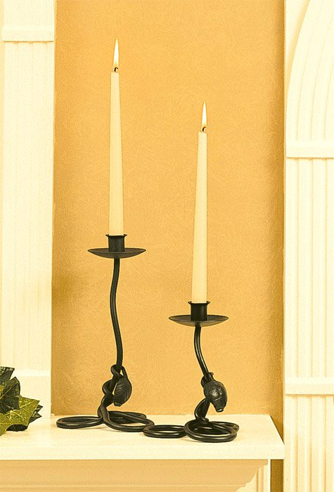 Hand Forged, Leaf Candleholder