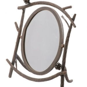 Hand Forged, Pine Branch Table Mirror