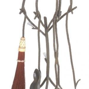 Hand Forged Pine Firetool Set