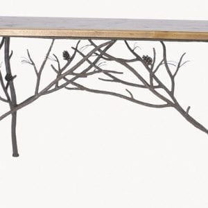 Hand Forged, Pine Branch Console Table