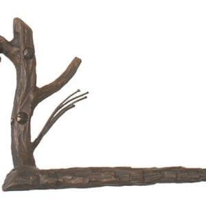 Hand Forged, Pine Branch Toliet Tissue Holder