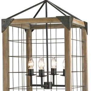Modern Rustic Wire Cage Lantern