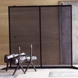 Stainless Steel - Bark Texture Fire Screen