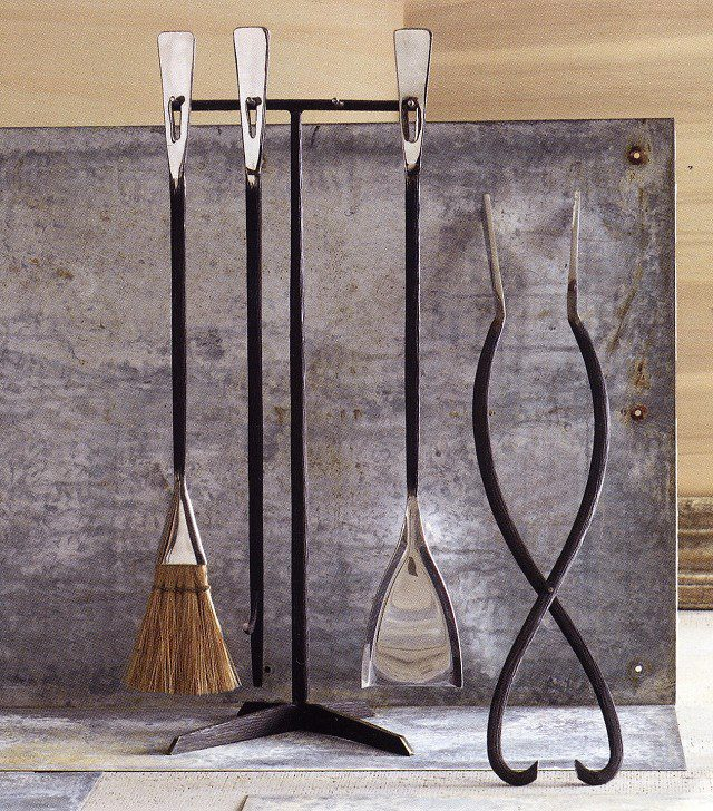 Stainless Steel Bark Finish Fireplace Tool Set The New Rustic