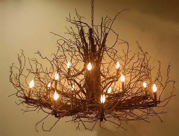 Chateau Branch Chandelier - Small
