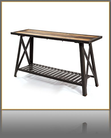 Industrial Cross Brace Console Table