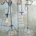 Factory Cage Light Pendants