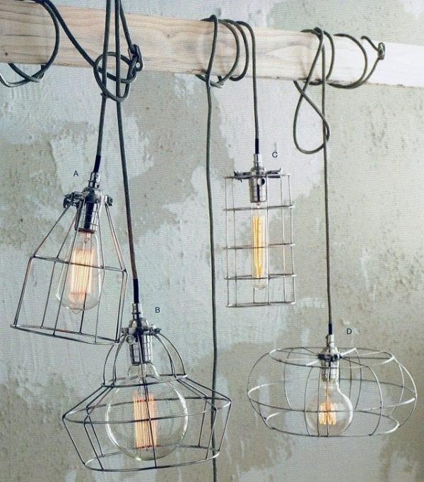 Factory Cage Light Pendants