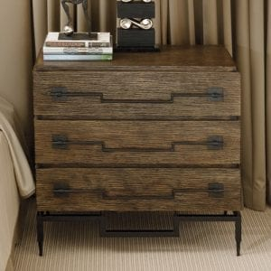 Brushed Mango Wood 3-Drawer Chest