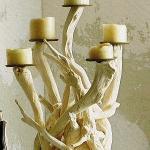 Tabletop Driftwood Candelabra