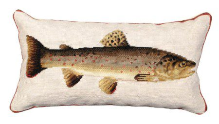 Brown Trout Hand Made Pillow