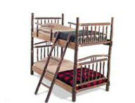 American Hickory Bunk Bed - Single over Single