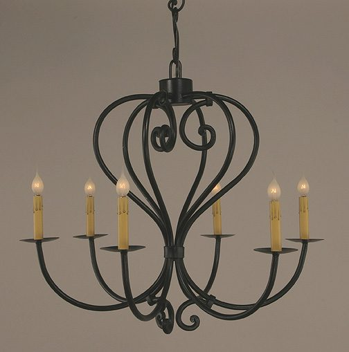 Bouffant Iron Chandelier