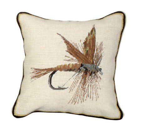 March Brown Fly Pillow