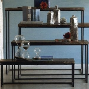 Modern Rustic Console Nesting Table Set